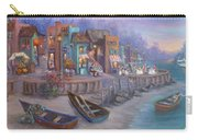 Italy Tuscan Decor Painting Seascape Village By The Sea Carry-all Pouch