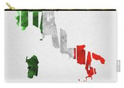 Italy Typographic Map Flag Carry-all Pouch