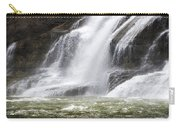 Ithaca Falls On Fall Creek - Mountain Showers Carry-all Pouch by Christina Rollo