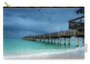 It's Getting Stormy At The Pier Carry-all Pouch