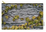Ivy And Ancient Wall In Old Montreal Hd Photography Carry-all Pouch