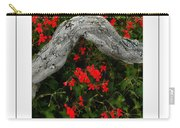 Ivy Geraniums And Log Poster Carry-all Pouch