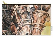Jack And Joe Hard Workin Horses Carry-all Pouch