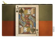 Jack Of Spades In Wood Carry-all Pouch