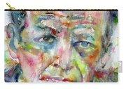 Jackson Pollock - Watercolor Portrait.3 Carry-all Pouch
