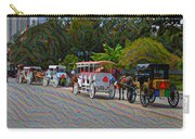 Jackson Square Horse And Buggies Carry-all Pouch