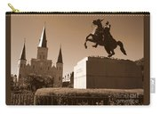 Jackson Square In New Orleans - Sepia Carry-all Pouch