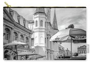 Jackson Square Scene New Orleans - Bw  Carry-all Pouch