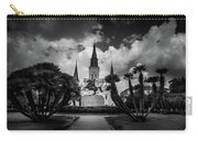Jackson Square Sunrise In Black And White Carry-all Pouch