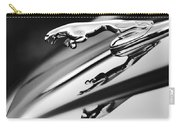 Jaguar Car Hood Ornament Black And White Carry-all Pouch
