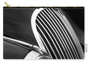 Jaguar Grille Black And White Carry-all Pouch