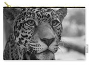 Jaguar In Black And White Carry-all Pouch