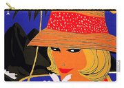 Jamaica, Woman With Orange Hat Carry-all Pouch