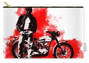James Dean And Triumph Carry-all Pouch