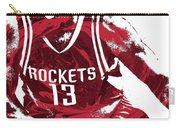 James Harden Houston Rockets Pixel Art 3 Carry-all Pouch
