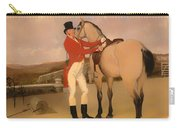 James Taylor Wray Of The Bedale Hunt With His Dun Hunter Carry-all Pouch