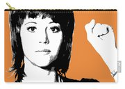 Jane Fonda Mug Shot - Orange Carry-all Pouch