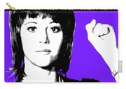 Jane Fonda Mug Shot - Purple Carry-all Pouch
