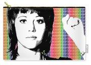 Jane Fonda Mug Shot - Rainbow Carry-all Pouch