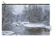 January Snow On The River Carry-all Pouch