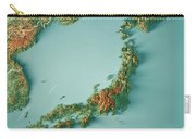 Japan 3d Render Topographic Map Border Carry-all Pouch