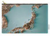 Japan 3d Render Topographic Map Neutral Border Carry-all Pouch