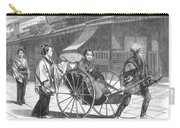 Japan: Rickshaw, 1874 Carry-all Pouch by Granger