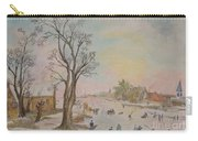 Japanese Art And Semblance Of Aert Van Der Neer Carry-all Pouch