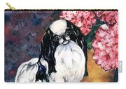 Japanese Chin And Hydrangeas Carry-all Pouch