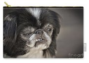 Japanese Chin Doggie Portrait Carry-all Pouch