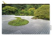 Japanese Flat Garden With Checkerboard Pattern Carry-all Pouch