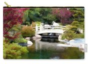 Japanese Garden Bridge And Koi Pond Carry-all Pouch