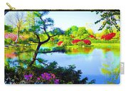 Japanese Garden In Spring Carry-all Pouch