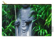 Japanese House Monk Statue Carry-all Pouch