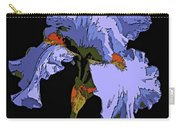 Japanese Iris-blue Beauty Carry-all Pouch