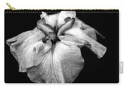 Japanese Iris In Black And White Carry-all Pouch