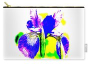 Japanese Iris Pop Art Abstract Carry-all Pouch
