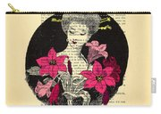 Japanese Lady With Cherry Blossoms Carry-all Pouch