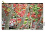 Japanese Maple Tree And Pond Carry-all Pouch