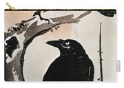 Japanese Print: Crow Carry-all Pouch