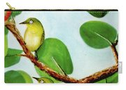 Japanese White Eyeor Mejiro Bird #287 Carry-all Pouch
