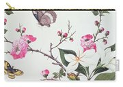 Japonica Magnolia And Butterflies Carry-all Pouch