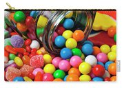 Jar Spilling Bubblegum With Candy Carry-all Pouch by Garry Gay