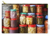 Jars Of Asian Style Pickles In Kep Market Cambodia Carry-all Pouch