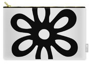 Camellia - Black  Carry-all Pouch