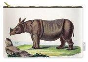 Javan Rhinoceros, Endangered Species Carry-all Pouch