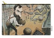 Jay Gould Cartoon, 1882 Carry-all Pouch