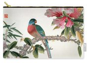 Jay On A Flowering Branch Carry-all Pouch by Chinese School