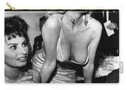 Jayne Mansfield Hollywood Actress And, Italian Actress Sophia Loren 1957 Carry-all Pouch