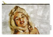Jayne Mansfield, Vintage Hollywood Actress And Pinup By Mary Bassett Carry-all Pouch